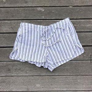 Brandy Melville striped flowy shorts